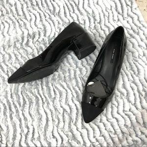 NWT Zara Black Close Toe Pump